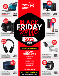 Black Friday Sale Flyer Volante (Carta US) template