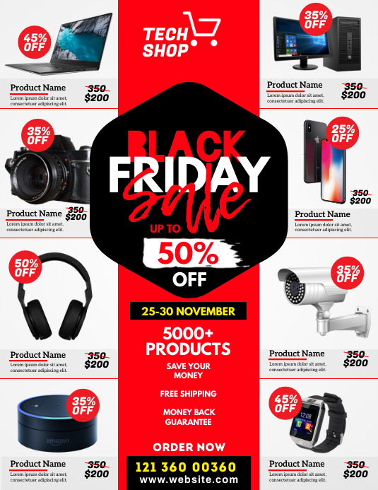 Black Friday Sale Flyer Pamflet (Letter AS) template