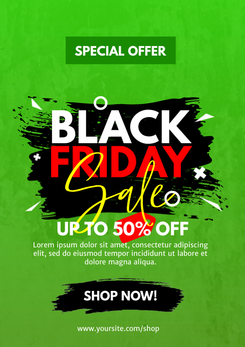Black Friday Sale Flyer A4 template