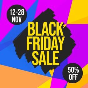 Black Friday Sale Flyer Wpis na Instagrama template