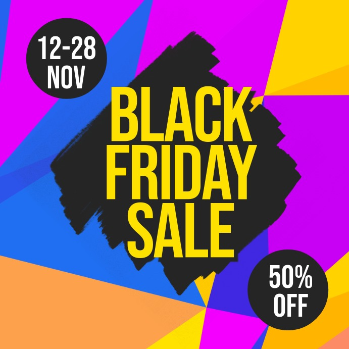 Black Friday Sale Flyer Iphosti le-Instagram template