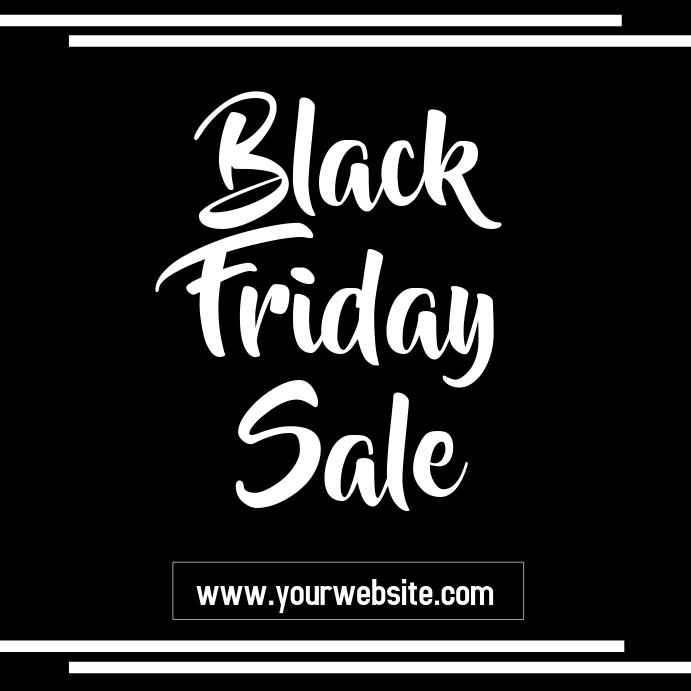 Black Friday Sale Flyer Instagram