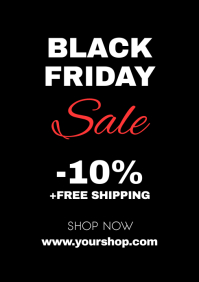 Black Friday Sale Flyer Poster Advert Shop A4 template