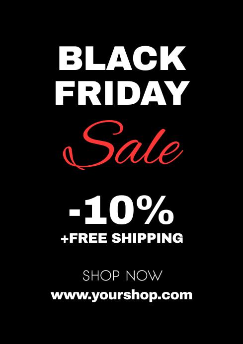 Black Friday Sale Flyer Poster Advert Shop