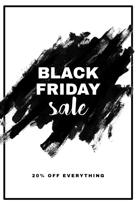 black friday sale flyer template postermywall
