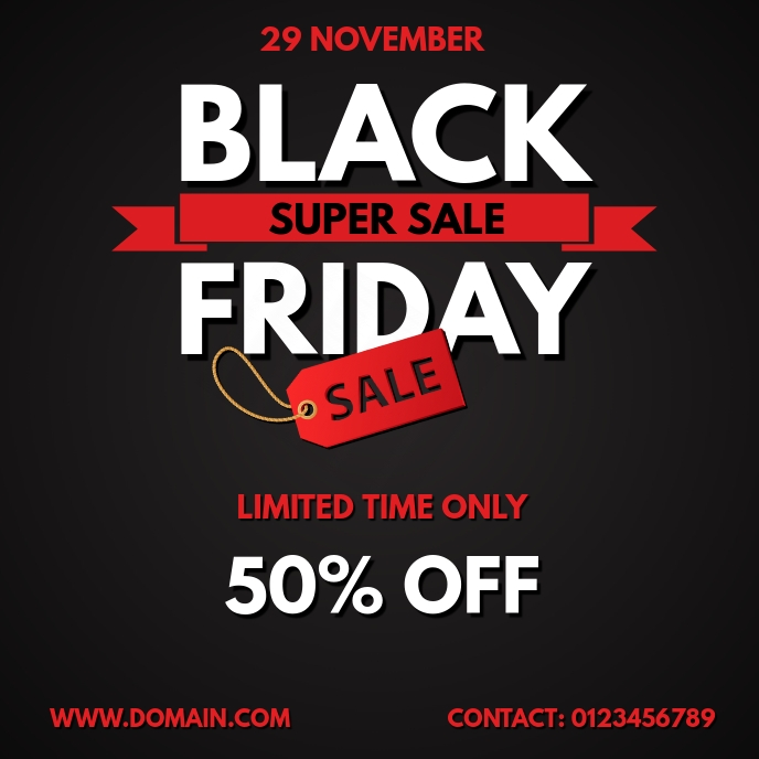 BLACK FRIDAY SALE FLYER TEMPLATE Albumcover