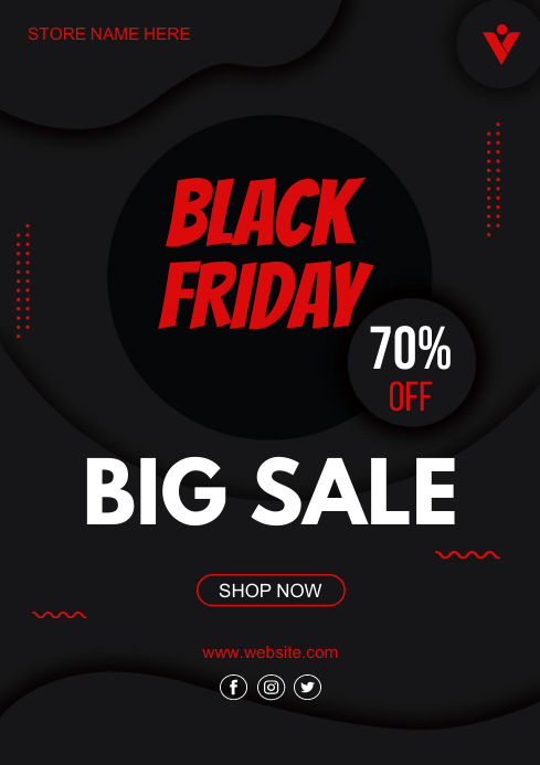 black friday sale flyer template A4