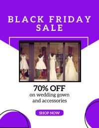 Black Friday Sale Flyer Template Pamflet (Letter AS)