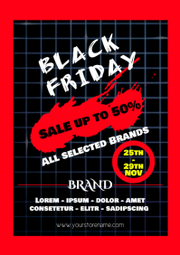 Black Friday Sale Flyer template post event d A4