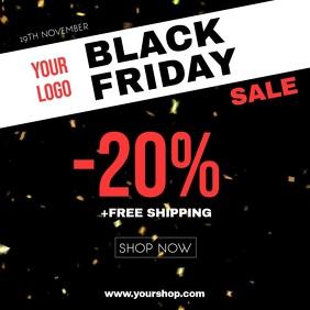 Black Friday Sale Glitter Gold Explosion Shop