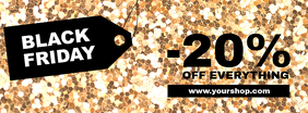 Black Friday Sale Gold Cover Promotion Header