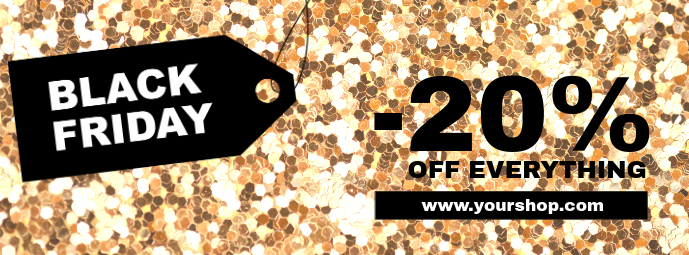 Black Friday Sale Gold Cover Promotion Header template