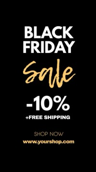 Black Friday Sale Gold Header Cover Shop Ad Indaba yaku-Instagram template
