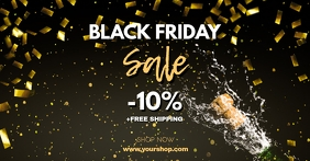 Black Friday Sale Gold Header Cover Shop Ad Facebook-annonce template