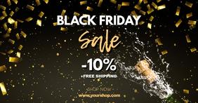 Black Friday Sale Gold Header Cover Shop Ad Рекламное объявление Facebook template