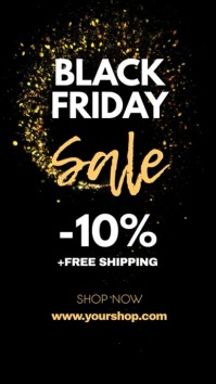 Black Friday Sale Gold Header Cover Shop Ad Instagram-Story template