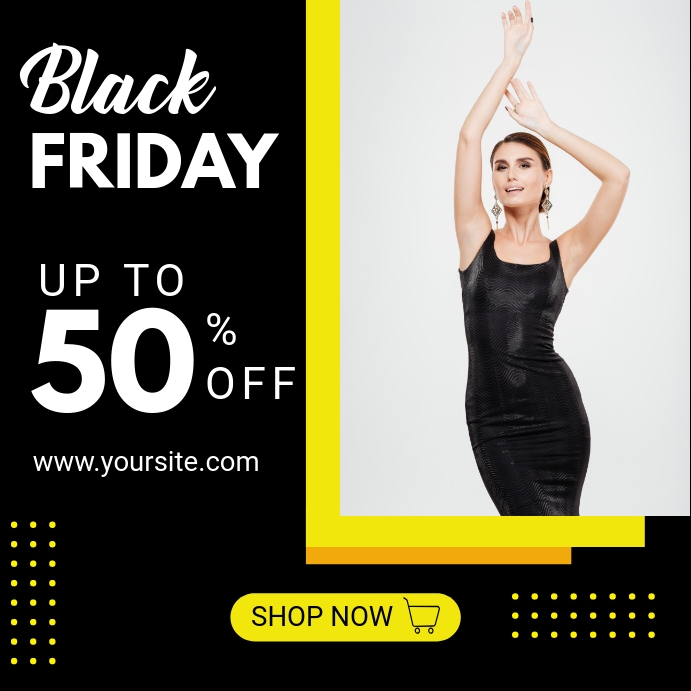Black Friday Sale Instagram ads Modelo | PosterMyWall