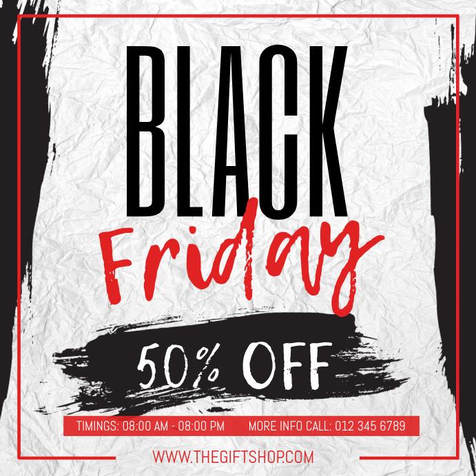 Black Friday Sale Instagram Image template