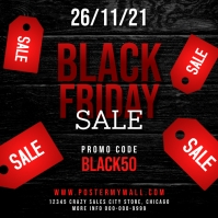 Black Friday Sale Instagram Promo Banner Post