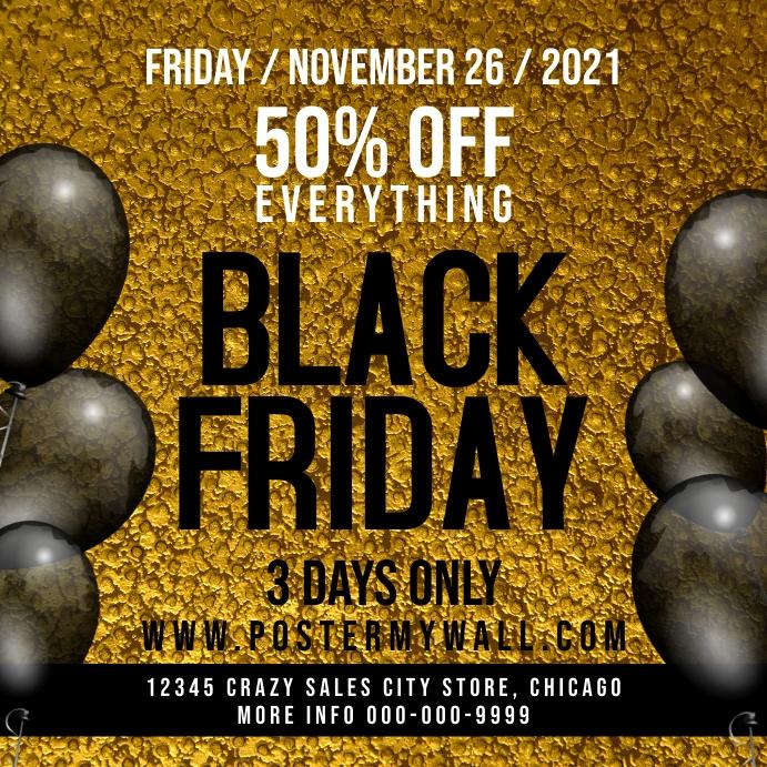 Black Friday Sale Instagram Promo Banner Post