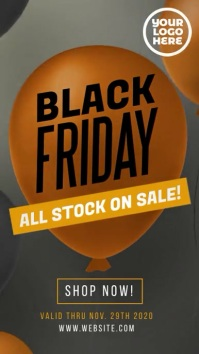 Black Friday Sale Instagram Story Ad Instagram-verhaal template