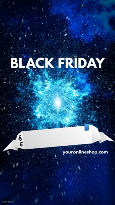 Black Friday Sale Instagram Template Digital na Display (9:16)