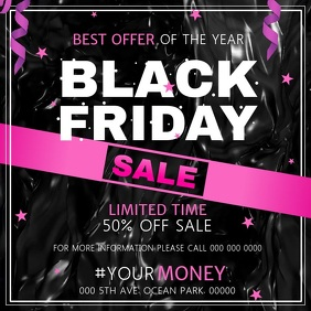 Black Friday Sale Instagram Video Quadrato (1:1) template