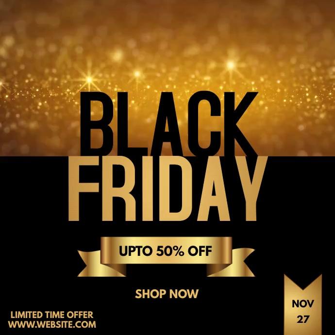 Black Friday Sale Instagram Video Post 2 template