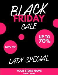 Black Friday Sale Pink Flyer