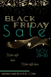 Black Friday Sale Poster Cartaz template