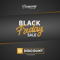 Black Friday Sale Poster Portada de Álbum template