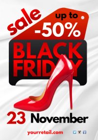 Black Friday Sale Poster A4 template