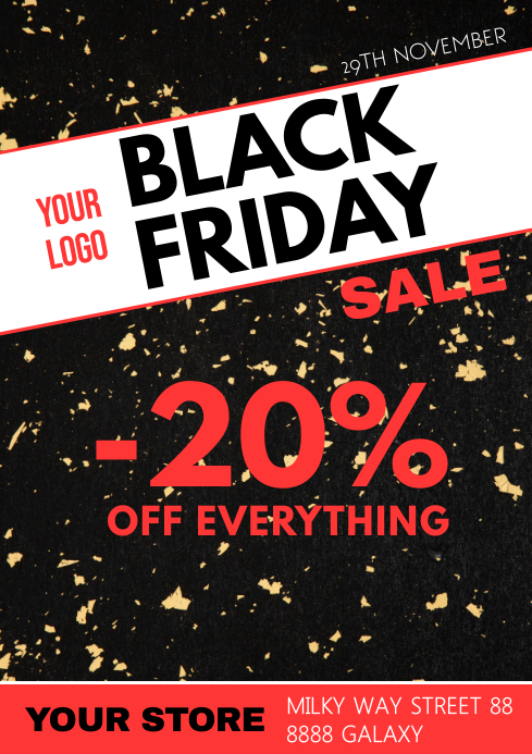 Black Friday Sale Poster Flyer Discount A4 template