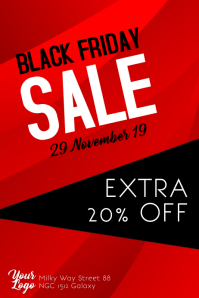 Black Friday Sale Poster Flyer Discount template