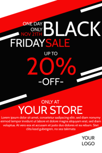 Black Friday Sale Poster Flyer Discount Iphosta template