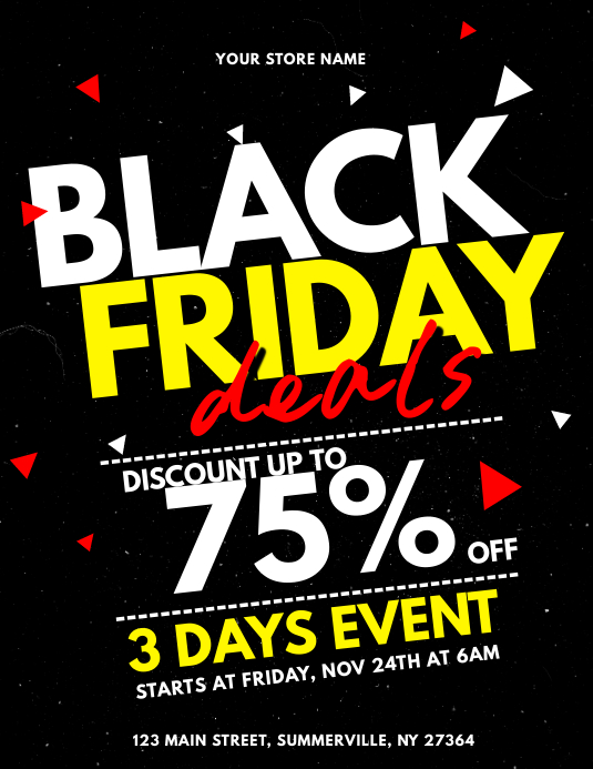 Black Friday Sale Flyer template