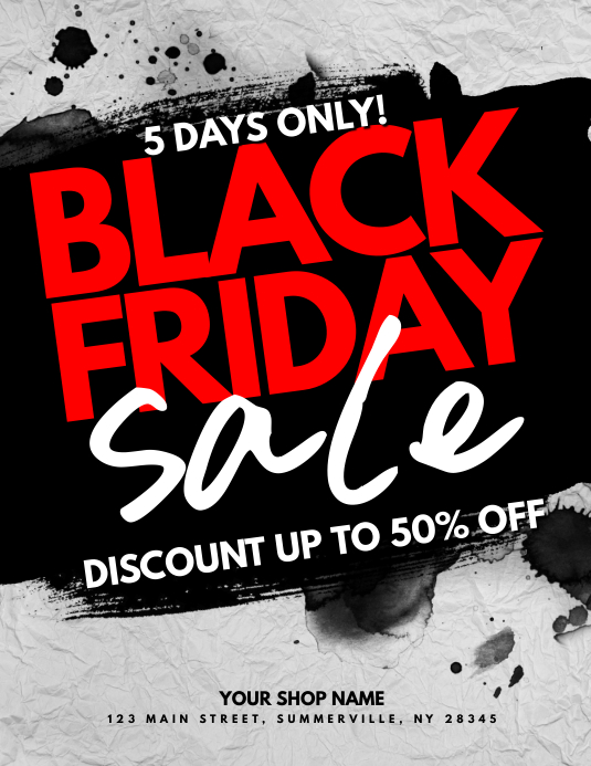 Black Friday Sale Flyer 传单(美国信函) template
