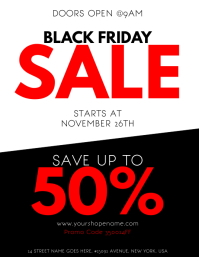 Black Friday Sale Flyer Template  For Sale Poster Template