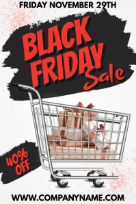 Black Friday Sale Poster Template
