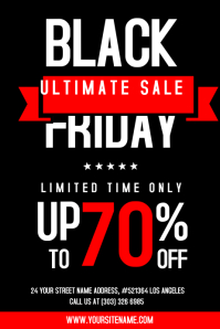 Black Friday Sale Flyer Template Plakat