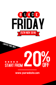 Black Friday Sale Flyer Template. Black Friday Poster  For Sale Poster Template