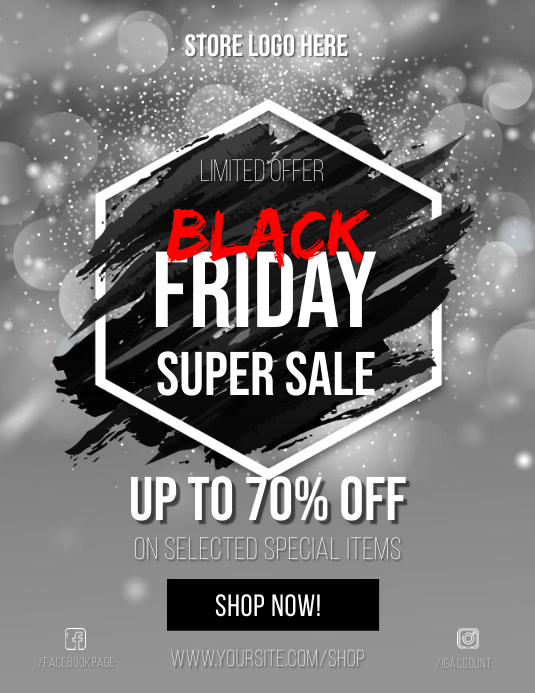 Black Friday Sale Premium Flyer template