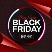 Black Friday Sale Promotion Banner Template Instagram-bericht