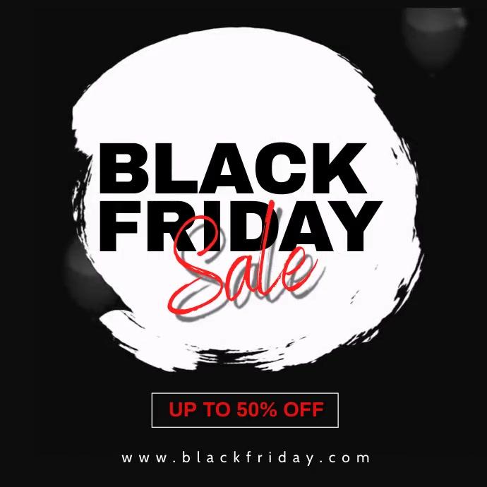 Black Friday Sale Promotion Instagram Banner template