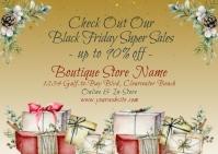 Black Friday Sale Retail Artistic Postcard Carte postale template