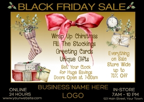 Black Friday Sale Retail Postcard