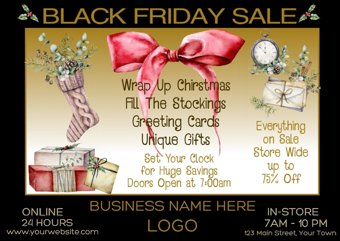 Black Friday Sale Retail Postcard 明信片 template