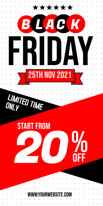 Black Friday Sale Roll Up Banner Template