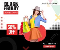 Black Friday Sale social Large Rectangle Rettangolo grande template