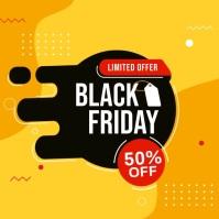 Black Friday Sale Social Media Banner Instagram Post template